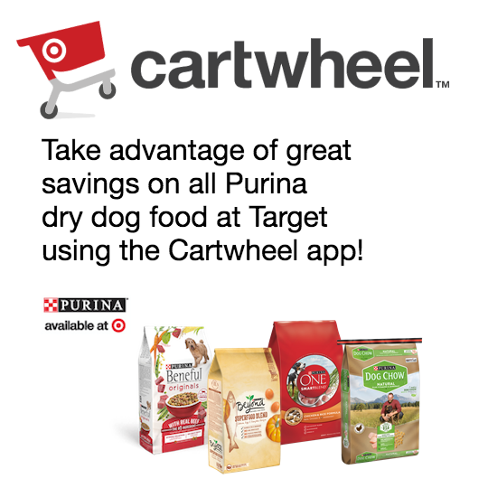 Purina dry dog food Target Cartwhell app