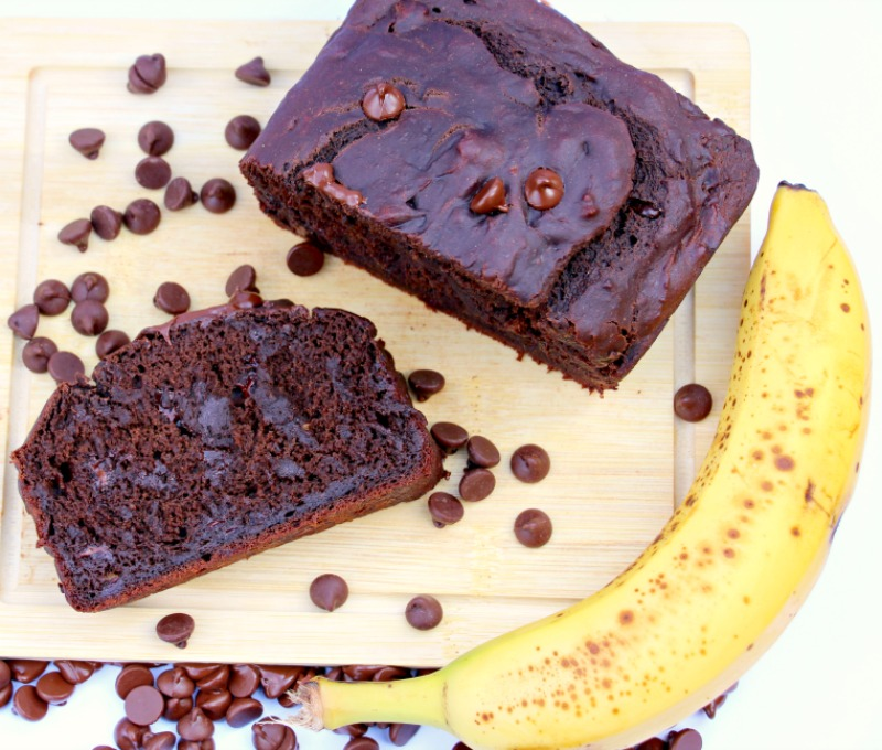 Vegan Double Chocolate Banana Bread (Gluten Free)
