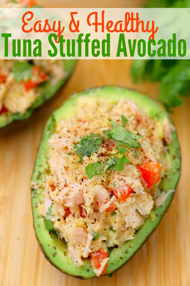 Easy & Healthy Tuna Stuffed Avocado