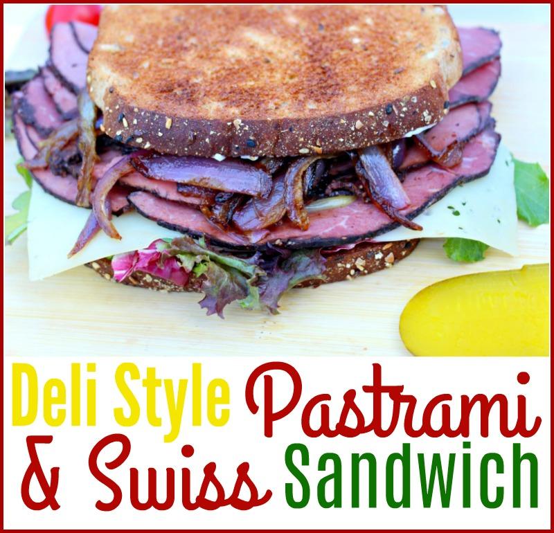 Deli Style Pastrami & Swiss Sandwich