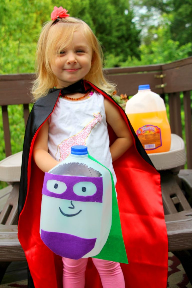 DIY Glow in the Dark Superhero Jug