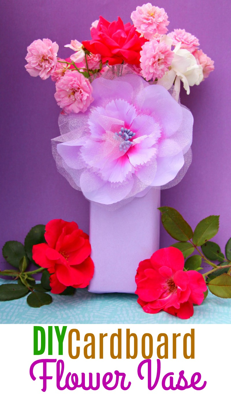 DIY Cardboard Flower Vase: Upcycling With Tom's of Maine