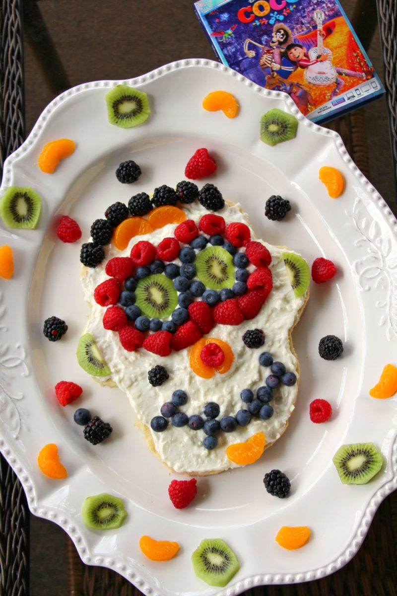Day Of The Dead Sugar Skull Fruit Pizza Miss Frugal Mommy