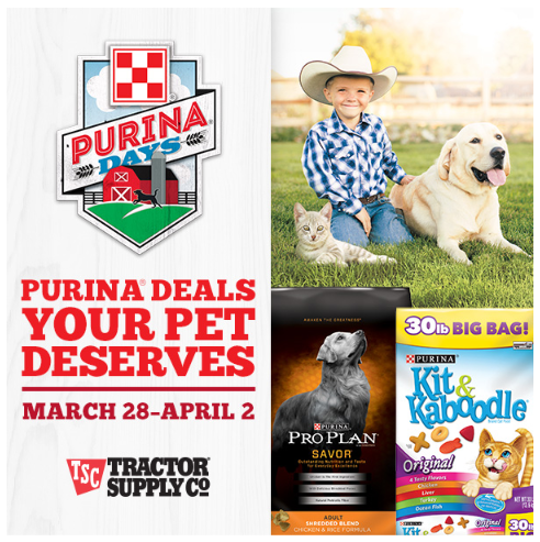 Purina Days At Tractor Supply Co Is Going On Now!