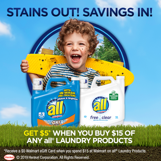 Stains Out! Savings In!