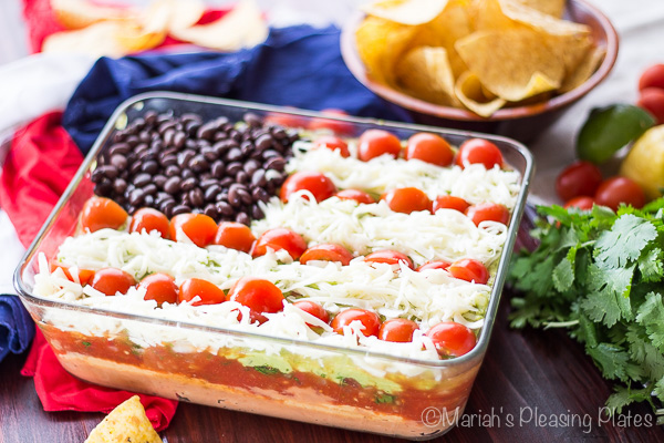 Lightened Up 7 Layer Dip