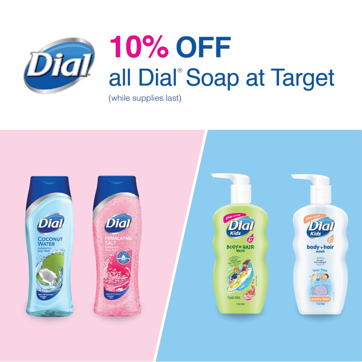 Score 10% Off All Dial Soap At Target!