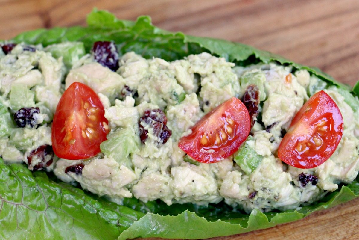 Healthy Chicken Salad With Homemade Avocado Mayo