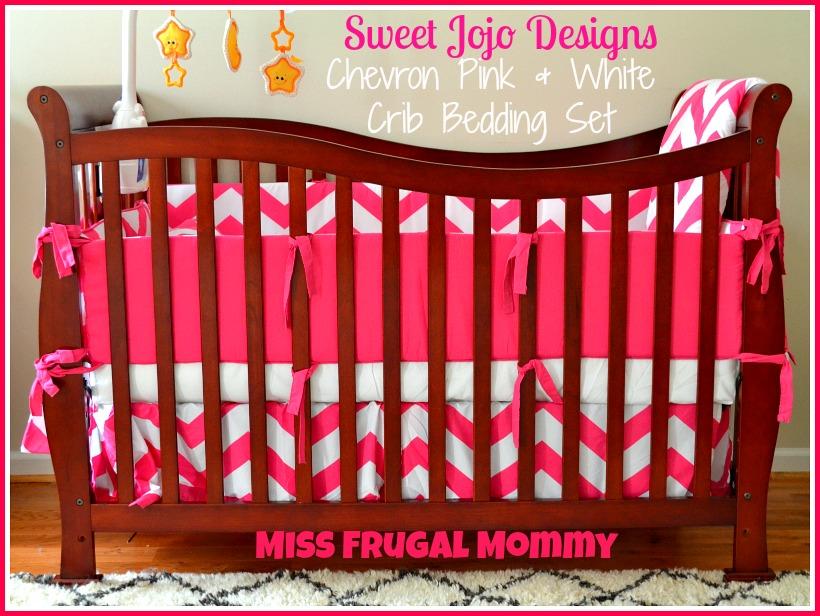 The Sweet Jojo Designs Chevron Pink & White Crib Bedding Set