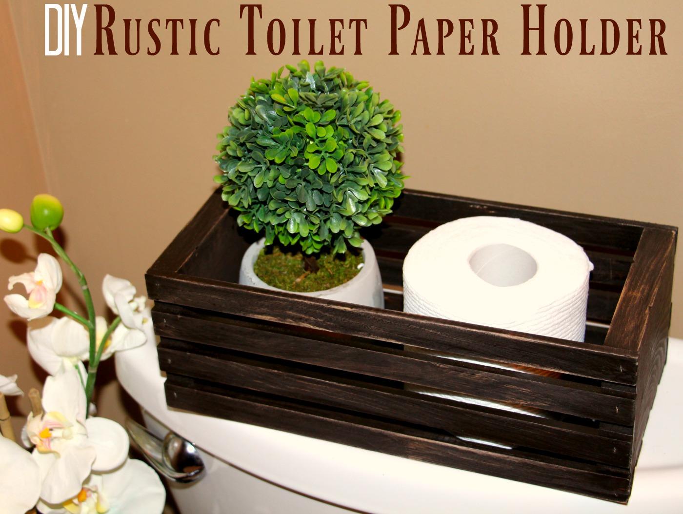 DIY Rustic Toilet Paper Holder